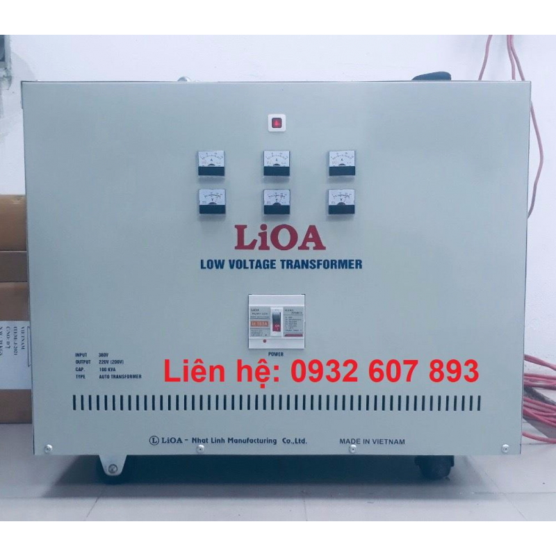 BIẾN THẾ LIOA DÂY ĐỒNG 80KVA/ 380V-220V