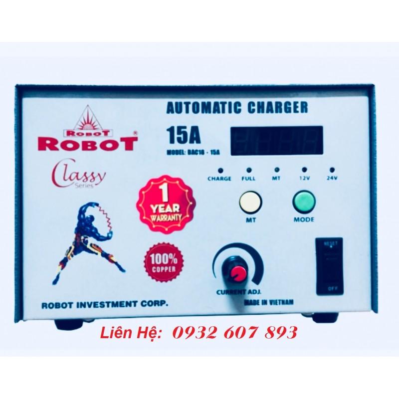 MÁY SẠC ROBOT 15A TỰ ĐỘNG - DÂY ĐỒNG