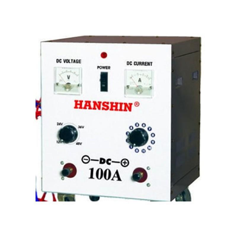 MÁY SẠC ẮC QUY – HANSHIN 100A - 24V~48V DC