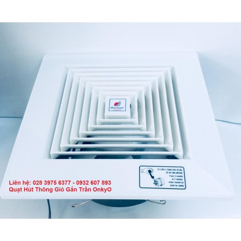 Quạt Hút Gắn Trần OnkyO FVCT20-250mm Có Ống Nối